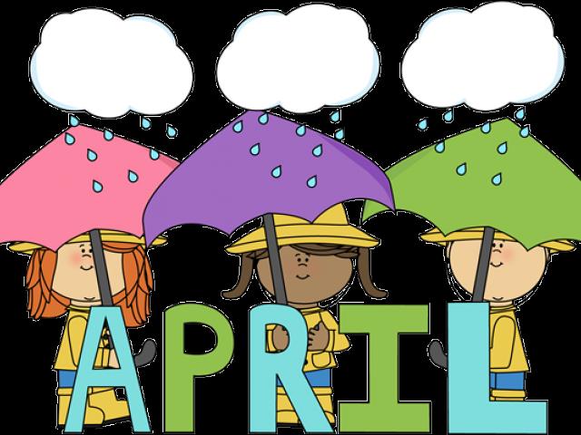 HD Shower Clipart April Calendar.