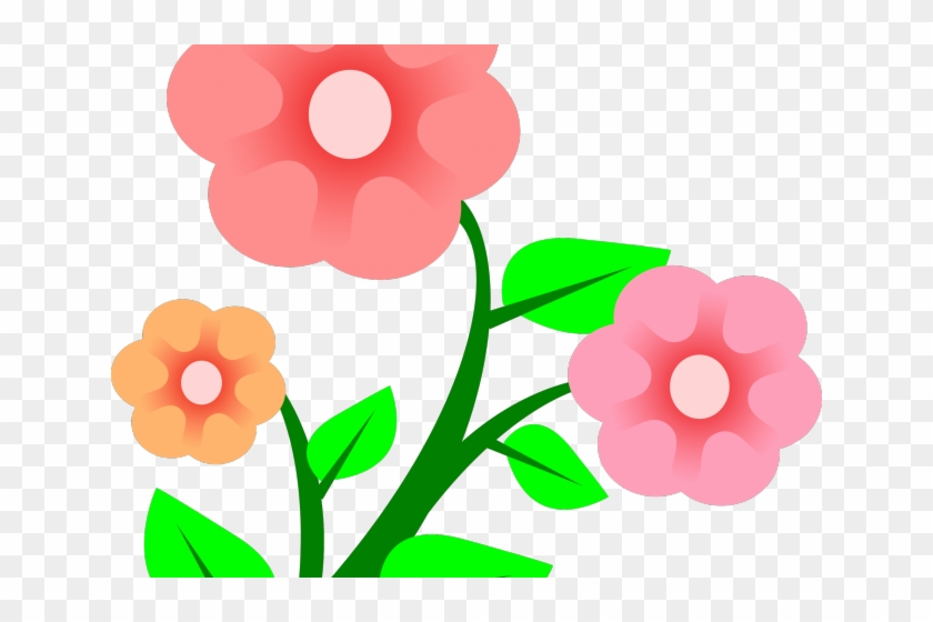 Pink Flower Clipart April Flower.