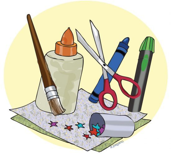 Clipart Of Arts And Crafts.