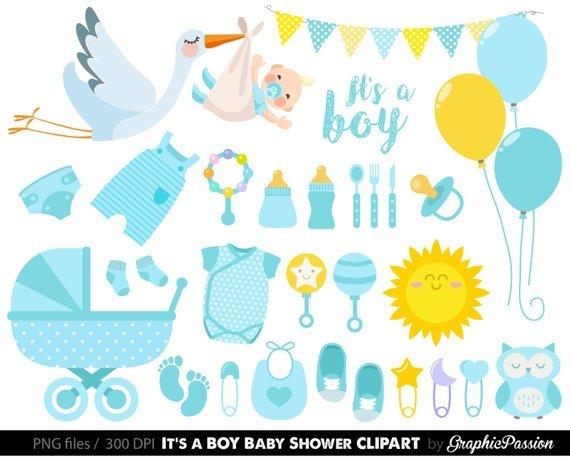 Baby shower boy clipart » Clipart Portal.