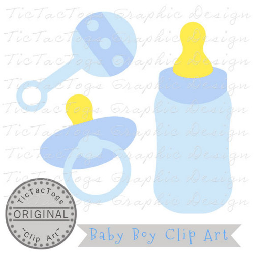 Baby Shower Clipart, Baby Clipart, Baby Boy Clip Art, Personal and CU.