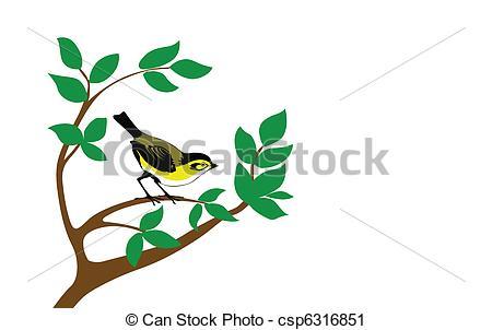 Clipart Birds Trees.