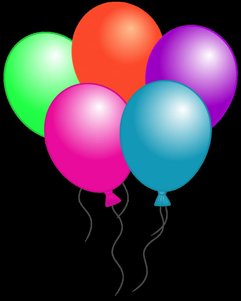 Birthday Balloons Clip Art Free.