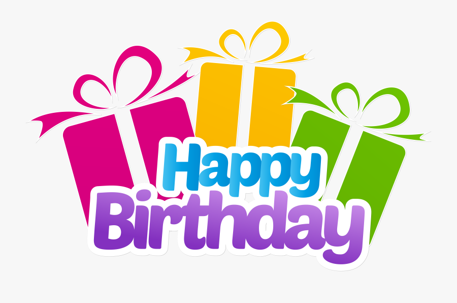 Happy Birthday With Gifts Png Clip Art Imageu200b Gallery.