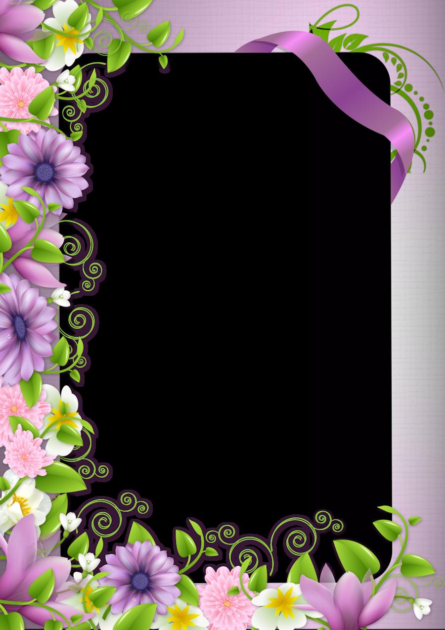Floral Border Frame clipart.