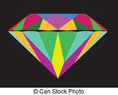 Clip Art Vector of Modern Brilliant Diamond Cut.