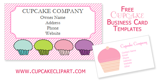 Free Cupcake Business Card Templates.