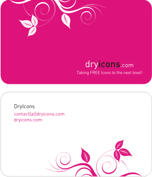 Dryicons Business Card Template.