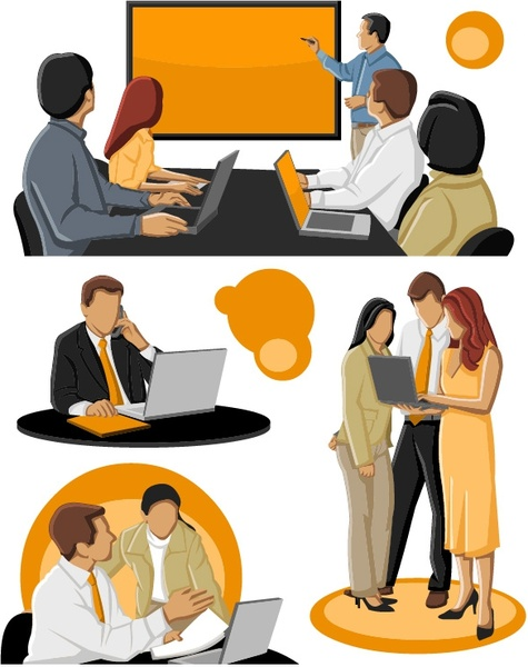 Use of clipart in business collection.