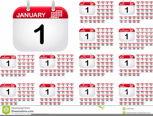 Clipart For Calendar Months.
