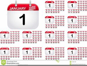 Clipart For Calendar Months.