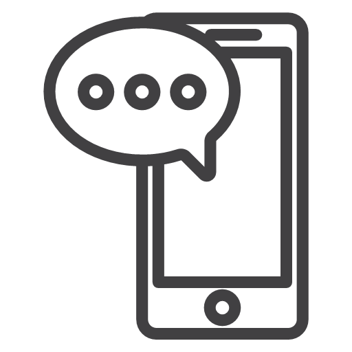Cellphone communication talk text texting icon.