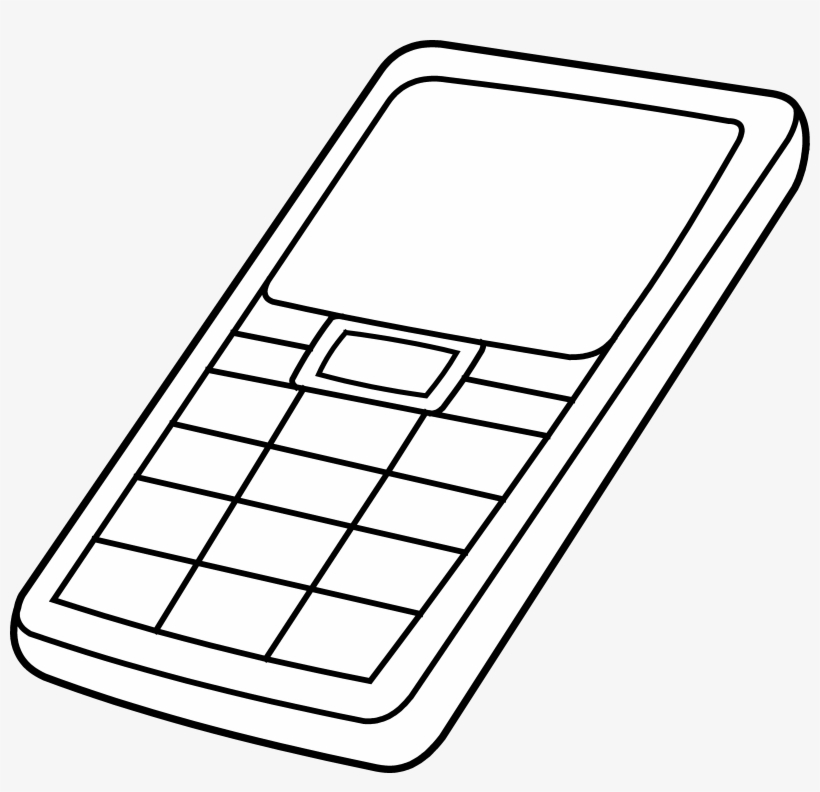 Cell Phone Clip Art Black And White Free Clipart.