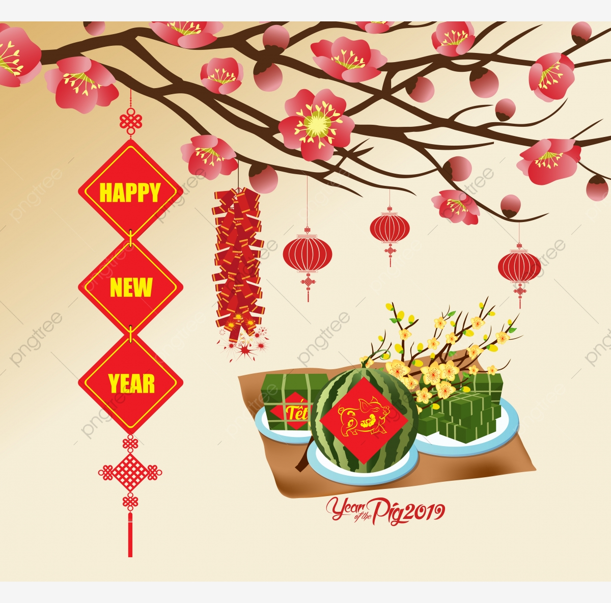 Chinese New Year, 2019, Pig, Lantern PNG Transparent Image and.