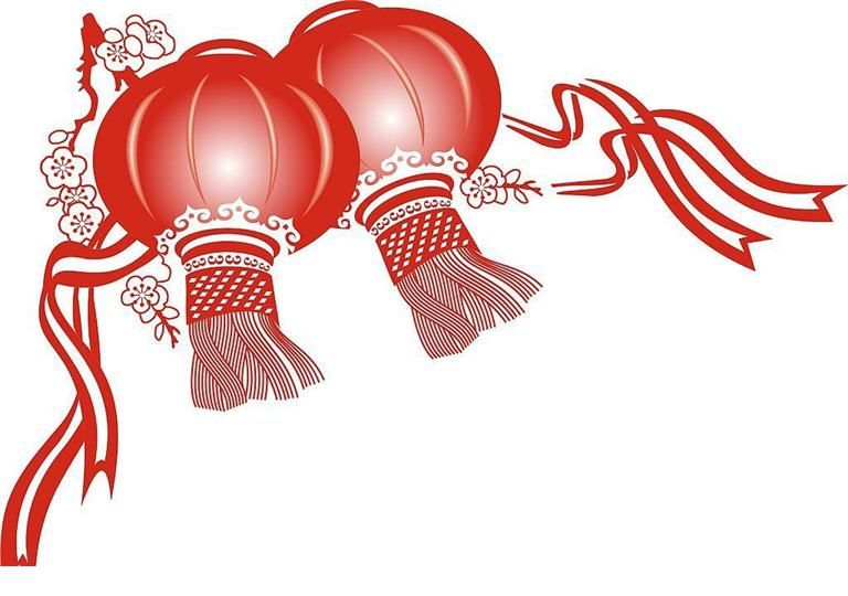 Chinese new year,Chinese new year decorations and clip arts , free.