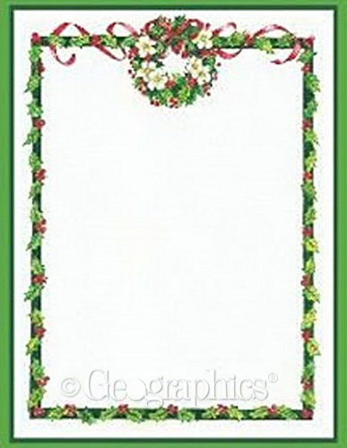 free christmas menu borders.