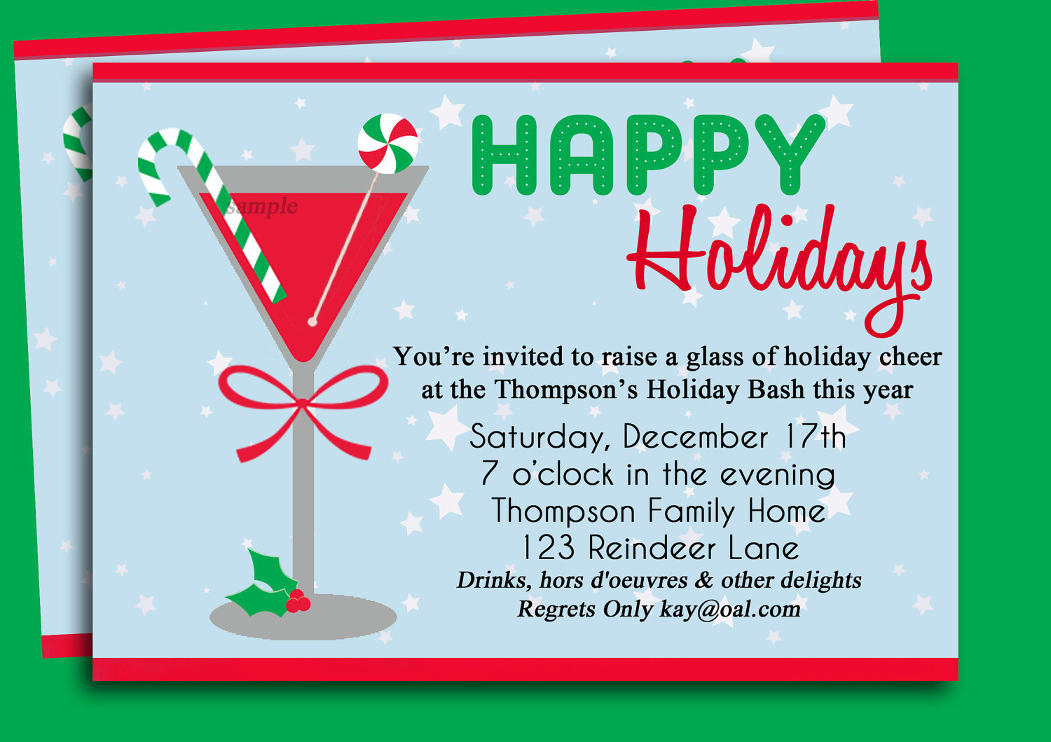 Christmas Party Invitation Clipart.