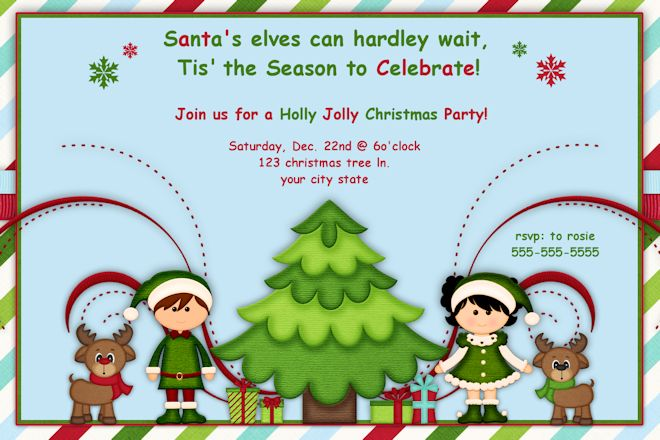 clipart for christmas invitations - Clipground