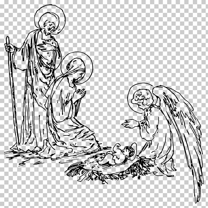 Nativity scene Nativity of Jesus Christmas , religious PNG clipart.