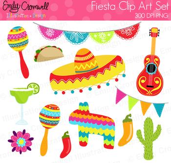 Fiesta Digital Clipart, Cinco De Mayo Clipart, Cute Kids Clipart.