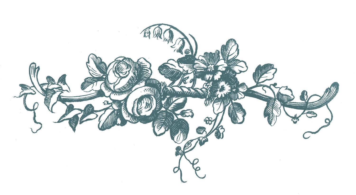 Top Flower Clip Art For Engraving Library » Free Vector Art.