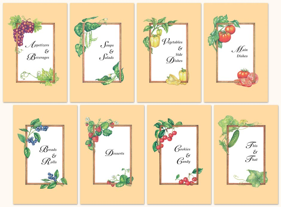 Clipart For Cookbookdividers Cookbook Dividers