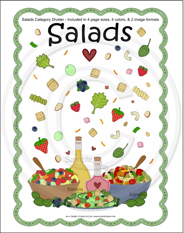 clipart for cookbookdividers