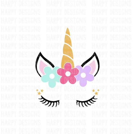 Unicorn SVG, Unicorn Face SVG, Unicorn Clipart, SVG Files.