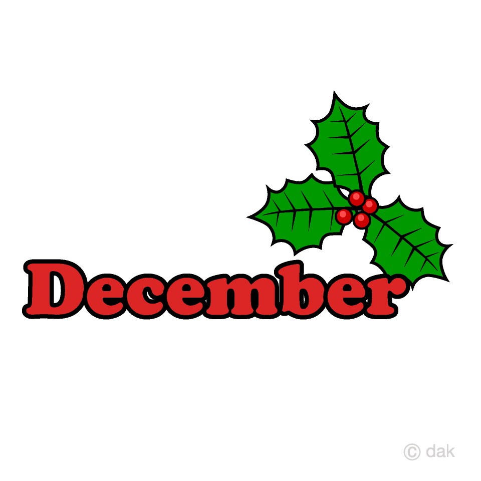 Free Holly December Clipart Image|Illustoon.