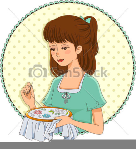 Hand Embroidery Clipart.