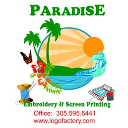 Paradise Embroidery and Screen Printing.