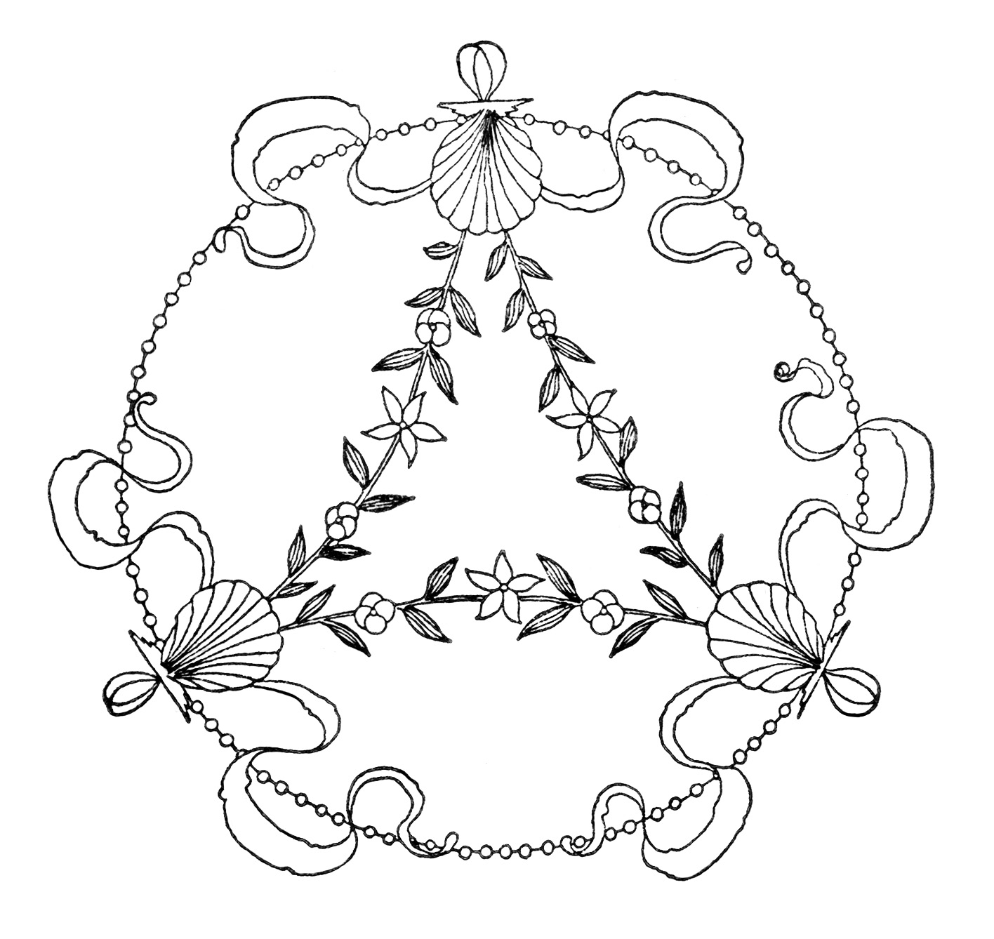 Free Clipart ~ Vintage Embroidery Designs.
