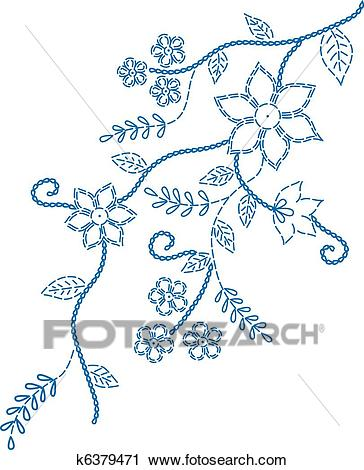 Marking embroidered design Clipart.