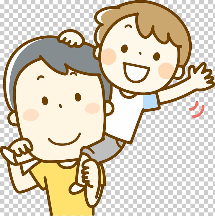 Father\'s Day , father and child PNG clipart.