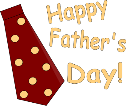Happy Fathers Day Text clipart.