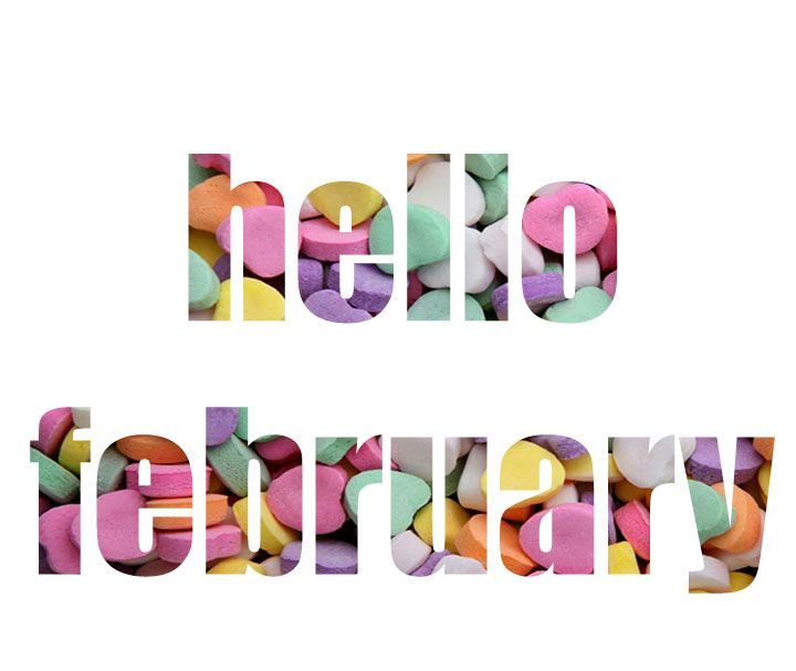 Hello February Clipart Images.