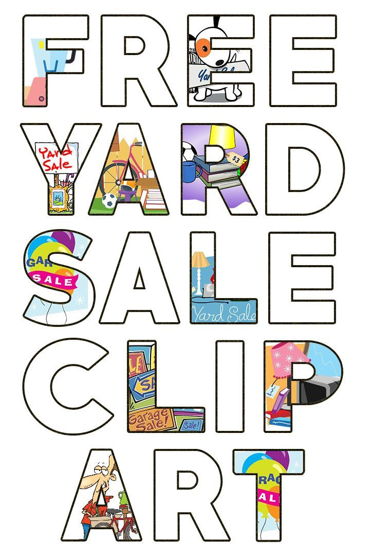 Free Garage Sale Images & Yard Sale Clipart.