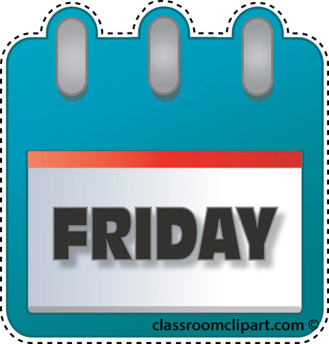 Free Friday Clipart Pictures.