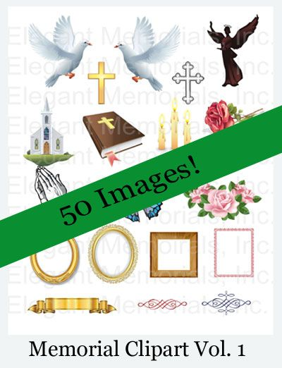 Funeral Program and Memorial Clipart Vol. 1.