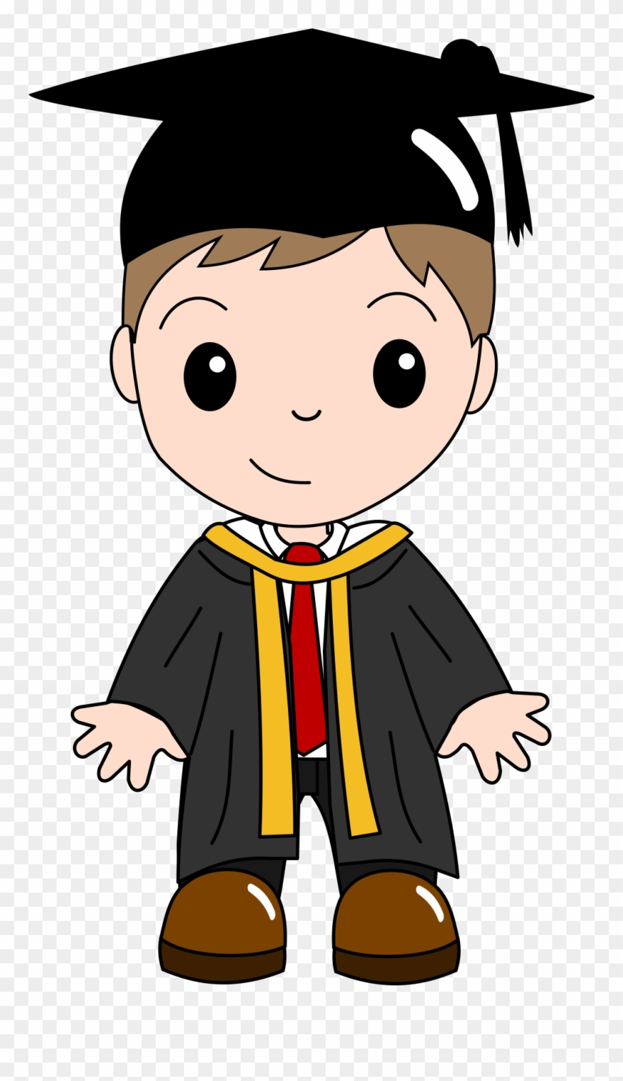 Graduation Ceremony Cartoon Clip.