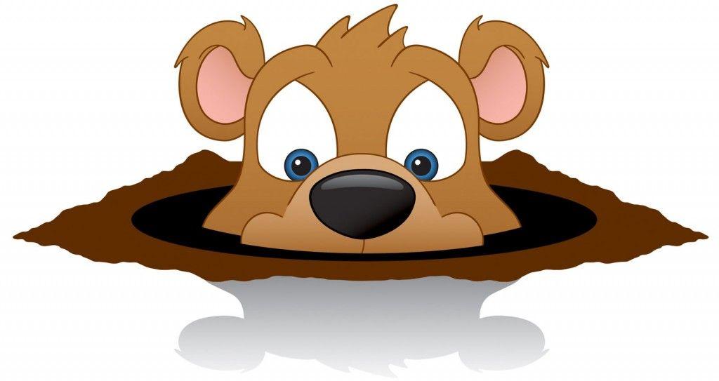 Happy Groundhog Day Clip Art.