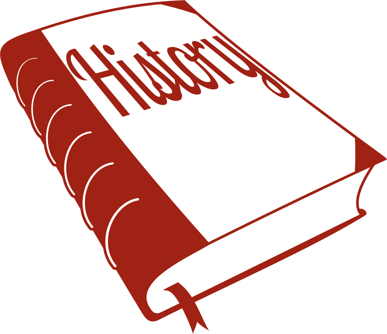Outline red history book clipart the cliparts.