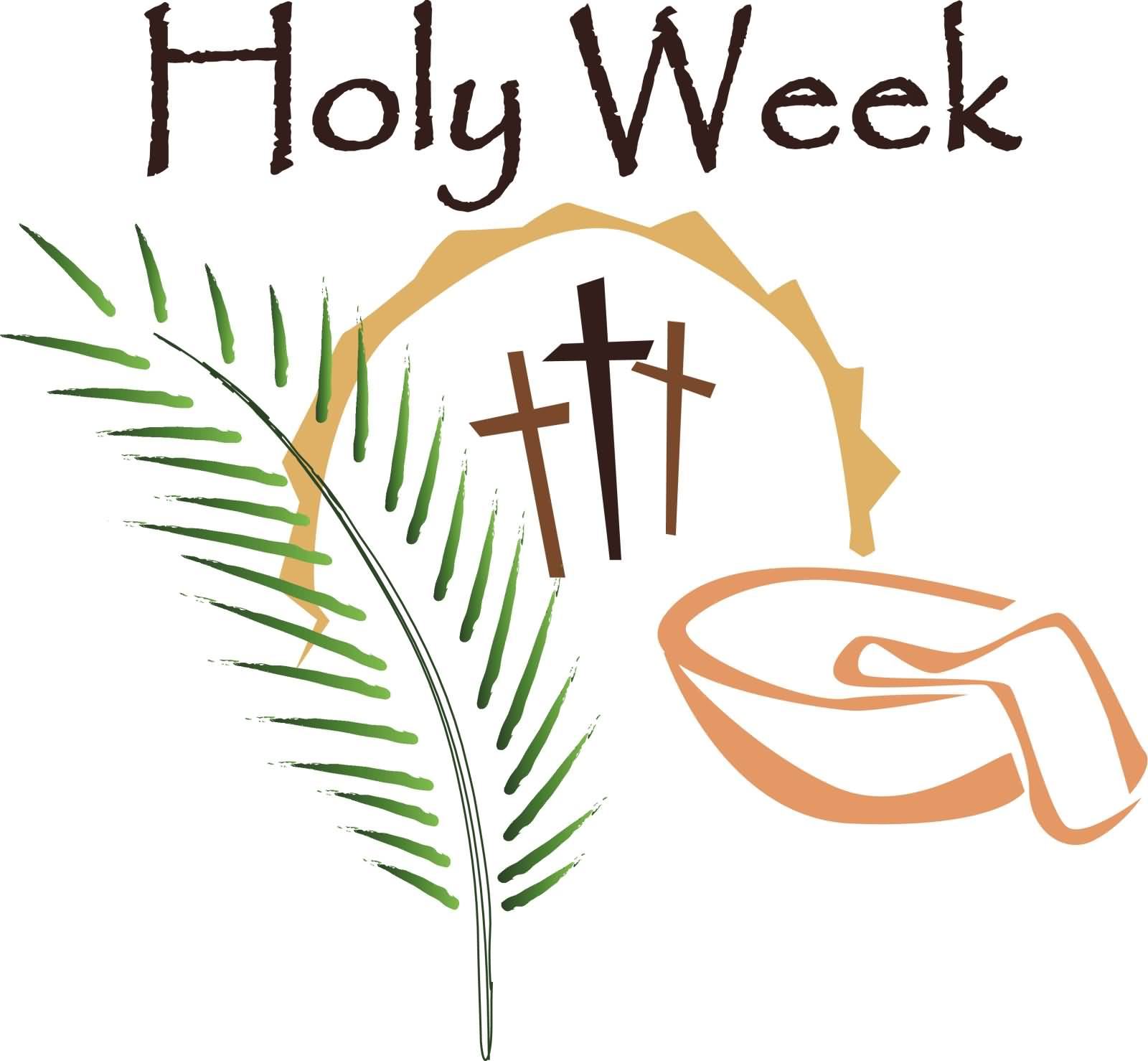 Holy Week Blessings Clipart.