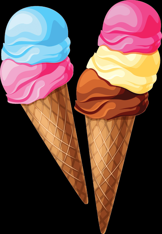 Cliparts Ice Cream transparent PNG.