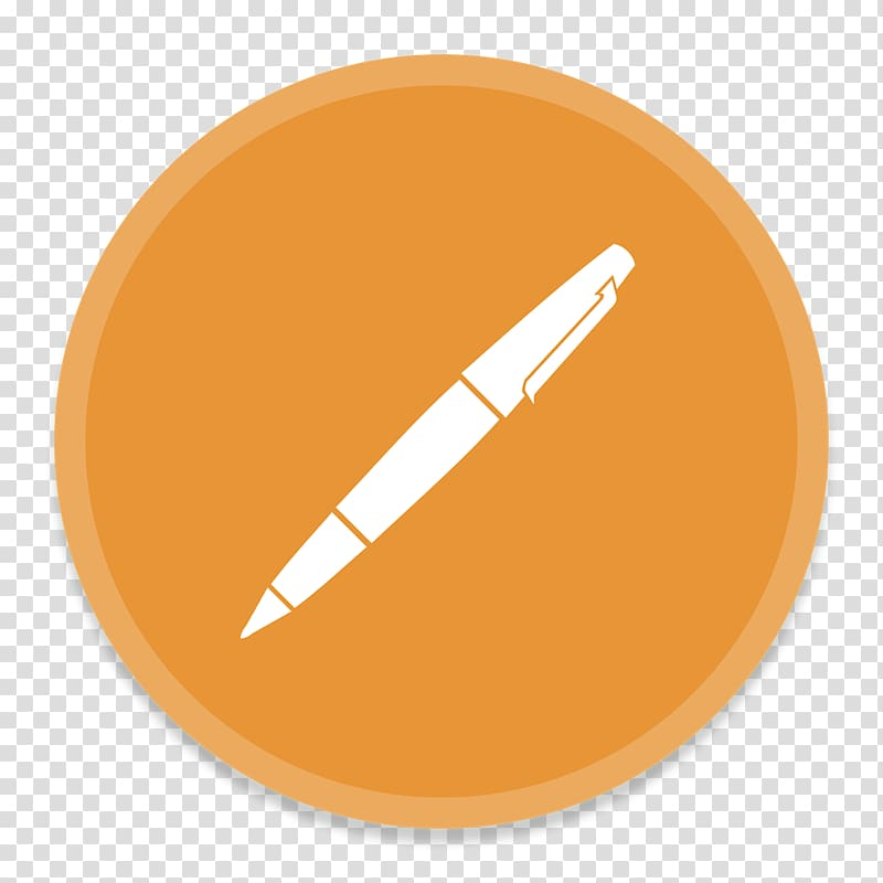 Pen , orange font, Pages transparent background PNG clipart.