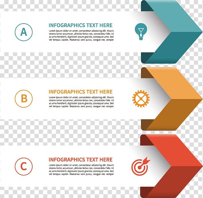 Infographics text advertisement, Euclidean Icon, Three.
