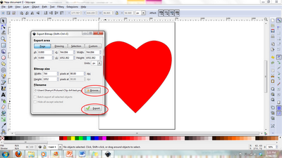 How to create simple clipart using Inkscape (a free program).