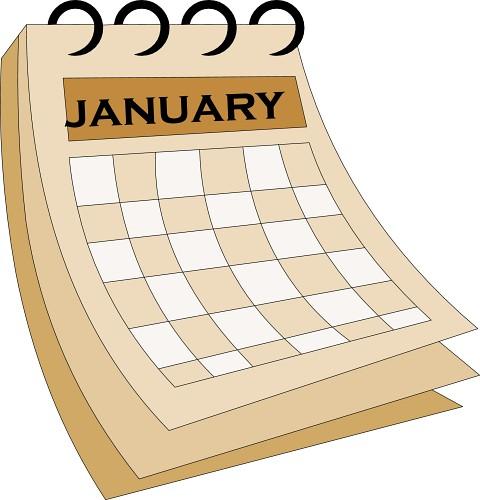 Clipart january 2016 calendars.