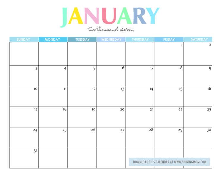 January 2016 Meal Of The Month Clipart Color Free.