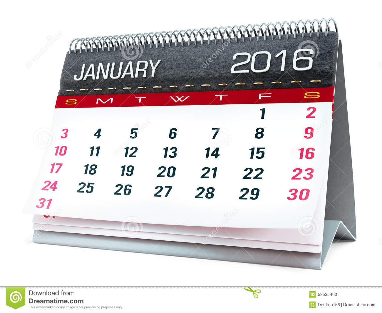 January Desktop Clipart.